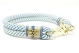 Tauhalsband & Leine blau mit Schneeflocken