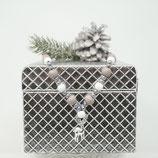 Hundekette mit Hirschanhänger silber/grau