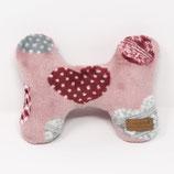 Kuschelknochen Herzen rosa