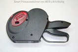 Preisauszeichner für Etiketten 26x12 mm 1-zeilig mit 6-stelligem Druck