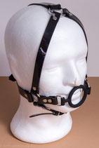 Ringknebel Ringgag Harnessaus schwarzem PVC
