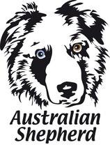 australian shepherd aufkleber 'luke'