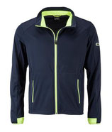 Sports Softshell Jacket (navy/bright yellow)