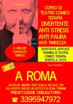 CORSO DI TEATRO TERAPIA TIMIDOL (PSICOSCENICA LUDO CURATIVA) A ROMA 24,25,26 GIUGNO 2021