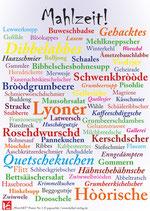 "WortART Poster ""Mahlzeit!"""