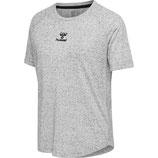 hml mabel t-shirt s/s - grau meliert