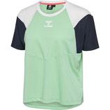hml robin t-shirt s/s - türkis/blau/weiß