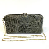 THE-CLUTCH kroko-gold-schwarz