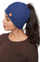 Mujal Stirnband-Mütze blau