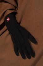 Fingerhandschuhe mit Zopfmuster für Damen
