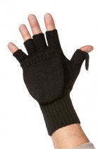 Alpaka Uni Känguru Handschuhe schwarz