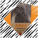 """Alpaka Keratin Seife """"Black & White"""" hergestellt von laRiSavon"""