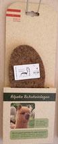 Schuheinlagen Alpaka / Schurwolle mit Korkunterlage
