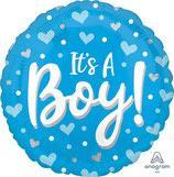 "Folien Ballon 17"" - It's A Boy Blue"