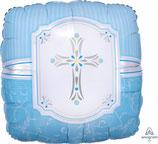 """Folien Ballon 17"""" - Communion Blessings Blue"""