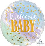 "Folien Ballon 17"" - Welcome Baby"