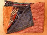 Kantha deken van katoenen sari's
