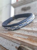 Armband mit Zopf Alva mit Perlseide