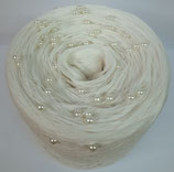 Wollweiss uni (cremefarbene Perlen)