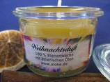 Bienenwachskerze mit Lavendelduft im Weck-Gläschen