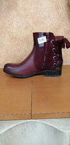 Bottines bordeaux