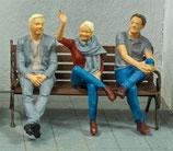 Reisende I, 3D-Druck, 3er Figuren-Set, 1:45