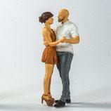 Tanzendes Paar, 3D-Druck-Set, unbemalt. 1:32