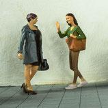 Anna trifft Claudia, 3D-Druck, 2er Set, unbemalt, 1:45