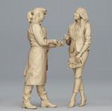 Auf dem Markt: Sind die auch frisch? 3D-Druck-Figuren-Set, unbemalt, 1:32