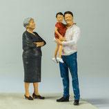 Oma Gertrud, Rainer & Kind, 3D-Druc-Set, unbemalt, 1:32