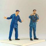 Werksarbeiter 1, 3D-Druck, 2er Set, unbemalt, 1:45