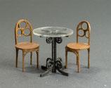 Café-Tischchen und 4 Stühle, Bausatz 1:32