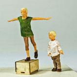 Kleiner Peter, fliegende Laura, 3D-Druck-Figuren, unbemalt, 1:45