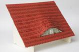 Biberschwanz-Dachziegel, gelaserte Streifen