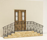 Bausatz Nostalgische Tür und Treppe, 1:45