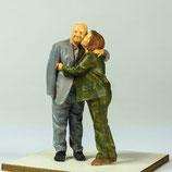 Seniorenpaar, 3D-Druck, unbemalt, 1:32