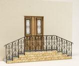 Bausatz Fränkische Tür und Treppe, 1:45