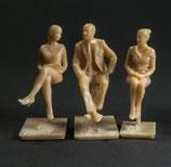 Reisende II, 3D-Druck, 3er Figuren-Set, 1:45