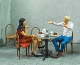 Treffen zum Kaffee, 3D-Druck, 2er Figuren-Set, 1:45