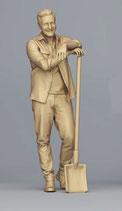 Günter im Garten (F-181), 3D-Druck-Figur, unbemalt, 1:45