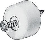 Tablarträger rund, Kunststoff weiss, mit Stift zum Einschlagen / 100 Stück