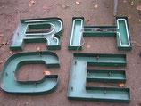 alte Leuchtbuchstaben 48 cm Metall NR 0906rest