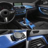Carbon 5D Blau Folie