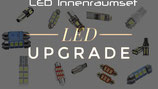 LED Innenraumbeleuchtung Set für Porsche 993 Carrera, Coupe, Cabrio, Targa, Turbo