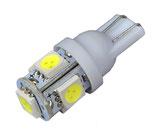 LED STANDLICHT W5W 5SMD xenon-weiss