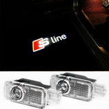 Audi S-Line Logo Türbeleuchtung