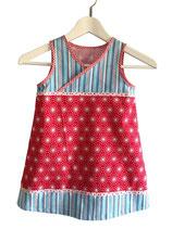 Ärmelloses Kleidchen in A-Form in Gr. 110