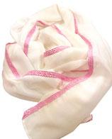 Schal mit Spitzenband