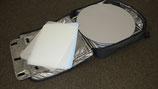 Pirouette ES50 Theke mit iPad Halter in silbernen Platte