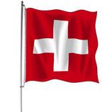 Schweizerfahne mit / ohne Ausleger